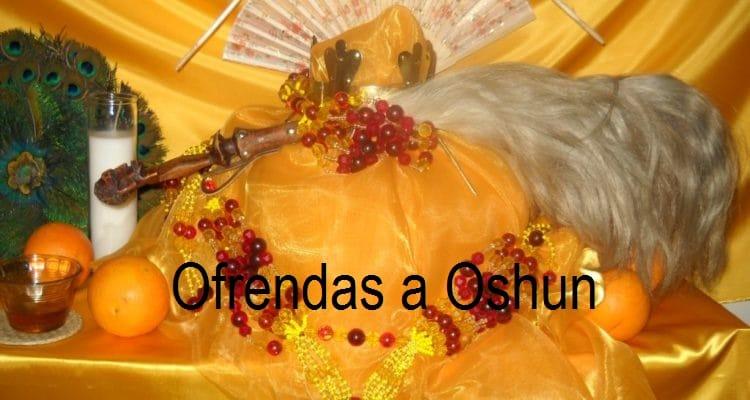 Ofrendas a Oshun