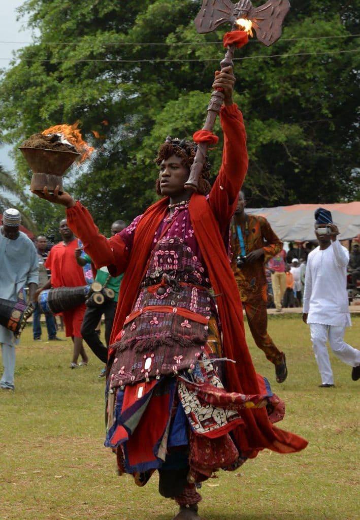 Baile dedicado a Shango